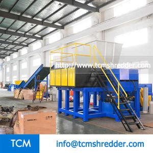 TCM-SM1500 mobile hopper single shaft shredder