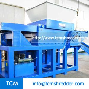 TCM-SM1200 mobile hopper single shaft shredder