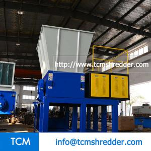 TCM-SM1000 mobile hopper single shaft shredder