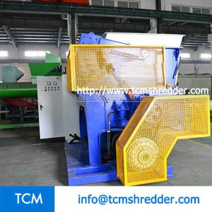 TCM-SV1200 swing arm single shaft shredder