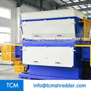 TCM-SV1500 swing arm single shaft shredder machine