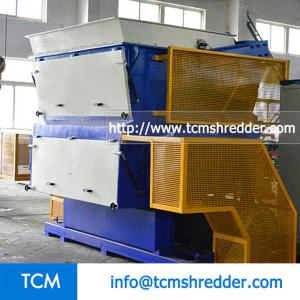 TCM-SV1800 swing arm single shaft shredding machine