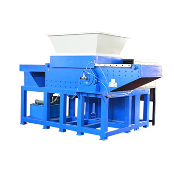 Mobile hopper single shaft shredder